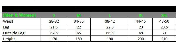 2014 TEAM BIB KNICKS & SHORTS - chart