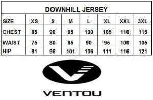 Downhill Size Chart